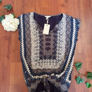 NWT LUCKY BRAND BOHO TOP SIZE SMALL